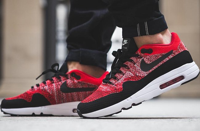 nike air max 1 ultra flyknit red white and boom