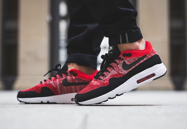 5343b79e0 Nike Air Max 1 Ultra 2.0 Flyknit University Red 875942-600 ...