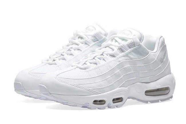 185d38f65a Nike Air Max 95 Triple White 307960-104 | SneakerFiles