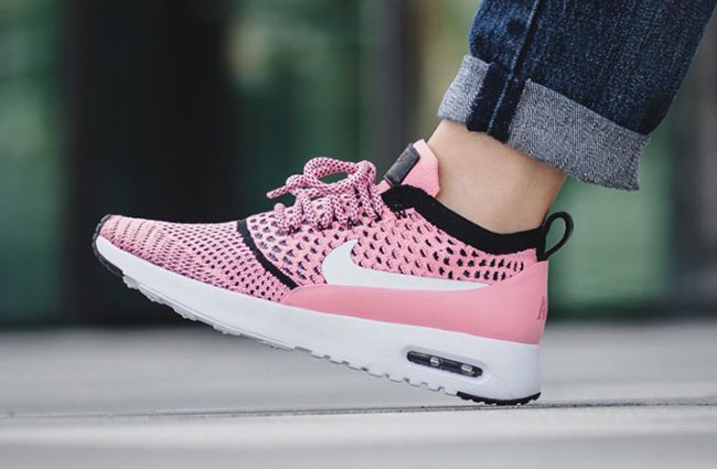 Nike Womens Air Max Thea Ultra Flyknit Bright MelonWhite 881175 800