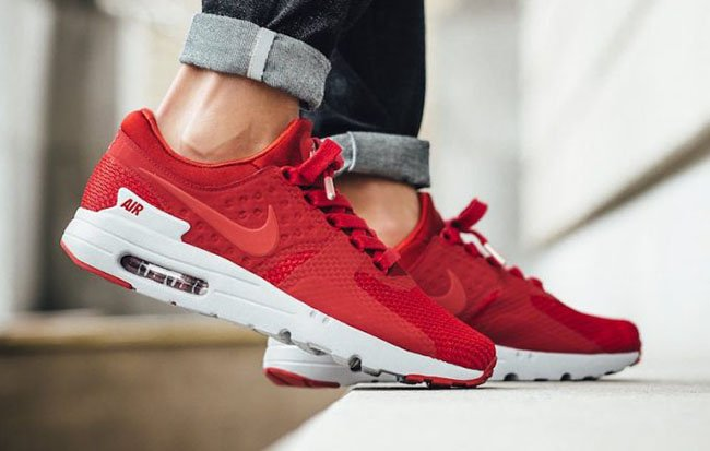 timeless design b6bca f102f Nike Air Max Zero Premium Gym Red 881982-600 | SneakerFiles