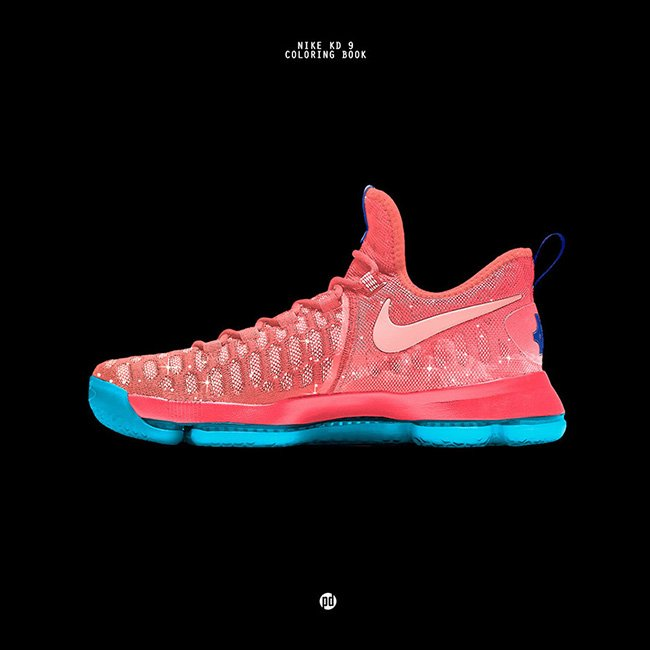 Nike KD 9 Chance The Rapper Coloring Book