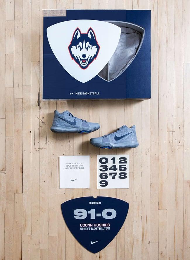 Nike Kyrie 3 UConn PE 91-0 Record