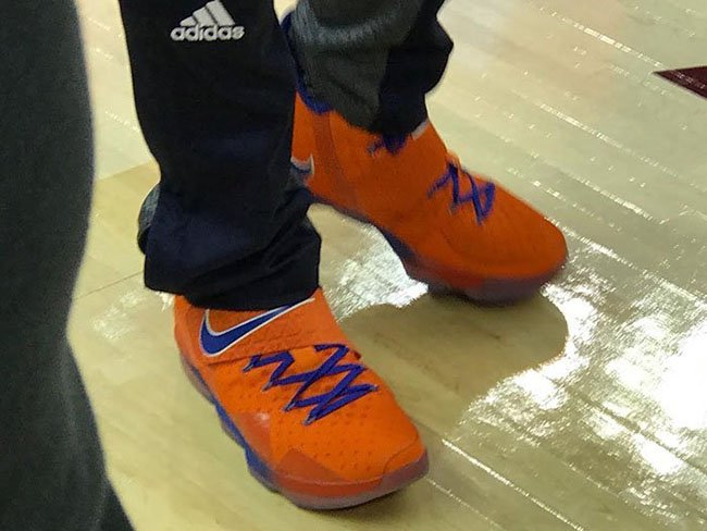 Nike LeBron 14 Hardwood Classics Orange Blue