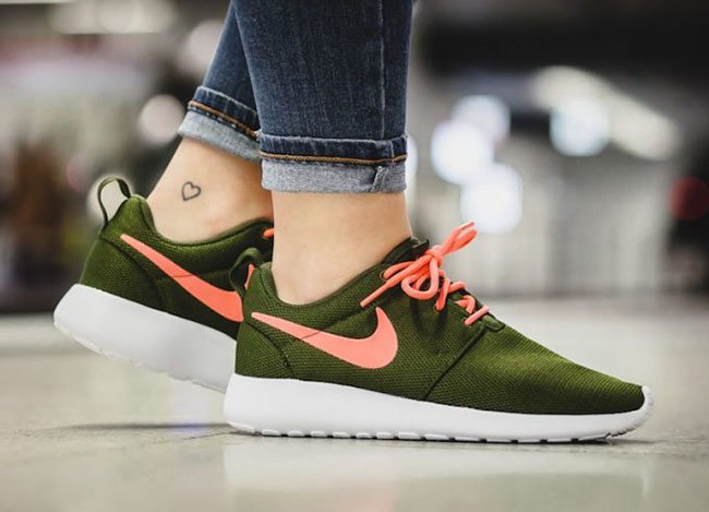 Nike Roshe One Legion Green Lava Glow