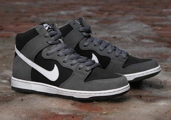 Nike Sb Dunk High Pro - Gris Oscuro / Negro / Blanco RnvFl