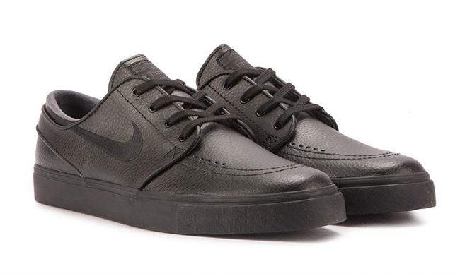 Nike SB Zoom Stefan Janoski Leather Triple Black