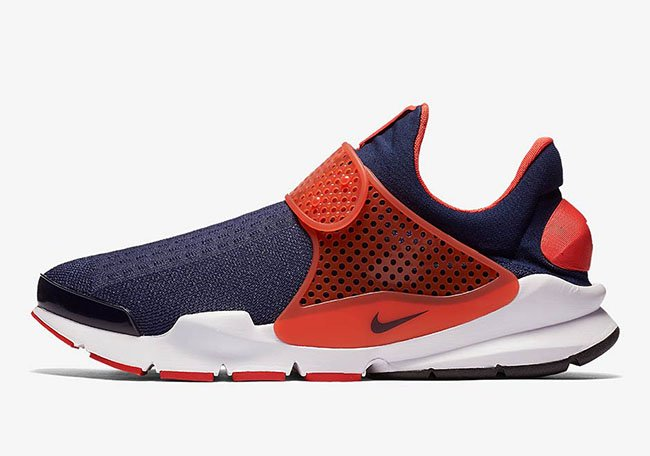Nike Sock Dart Max Orange Midnight Navy