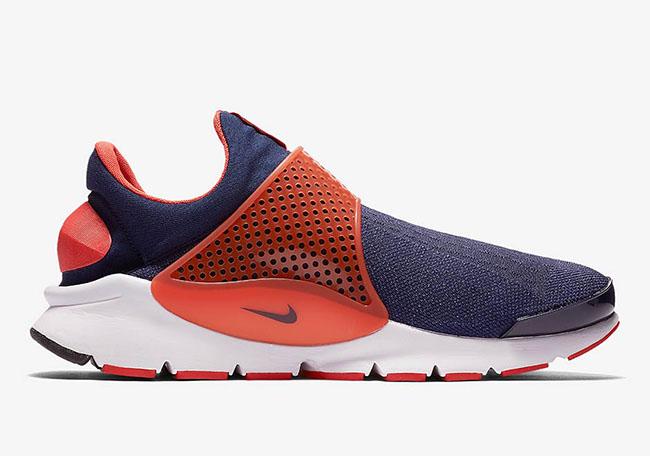 Nike Sock Dart Max Orange Midnight Navy