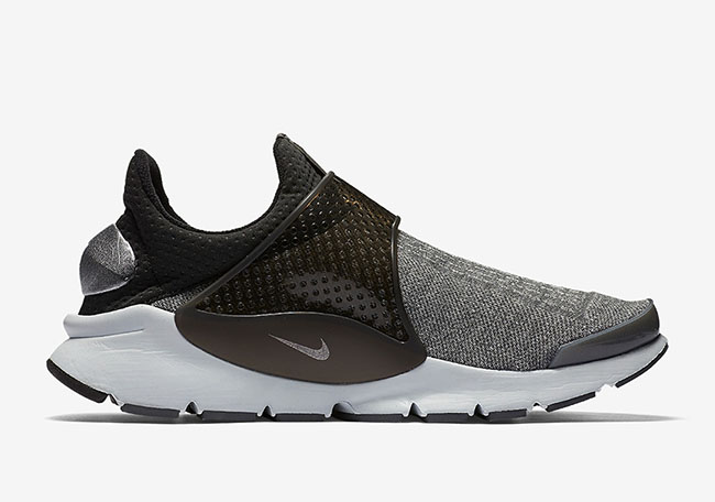 Nike Sock Dart Wolf Grey Metallic Silver Heel