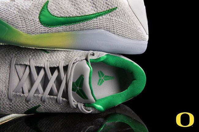 Oregon Ducks Nike Kobe 11 Grey Green PE