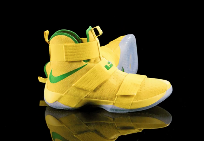 Oregon Ducks Nike LeBron Soldier 10 Yellow Green