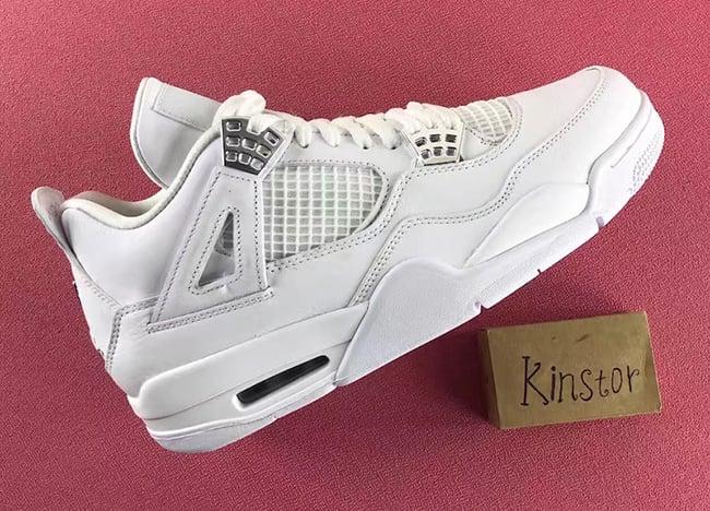 Pure Money Air Jordan 4 White Silver