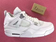 Pure Money Air Jordan 4 White Silver