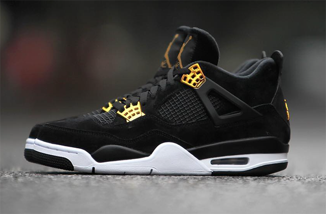 best service acd20 a49bb Royalty Air Jordan 4 Black Gold