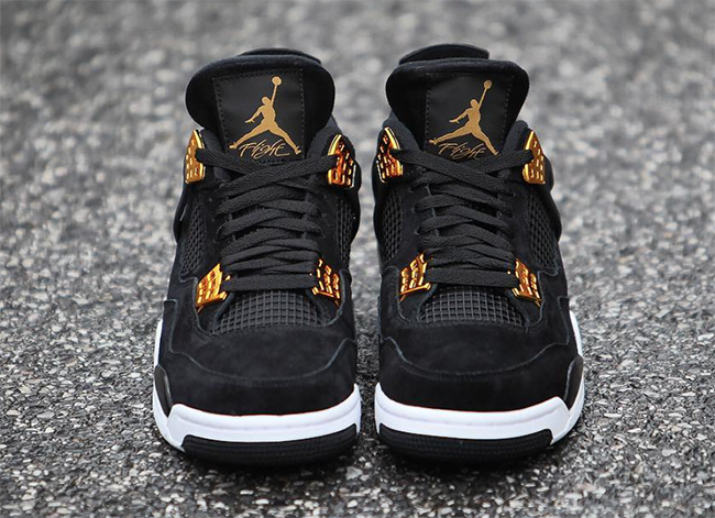 best service 7fdb8 eeaa0 Royalty Air Jordan 4 Black Gold