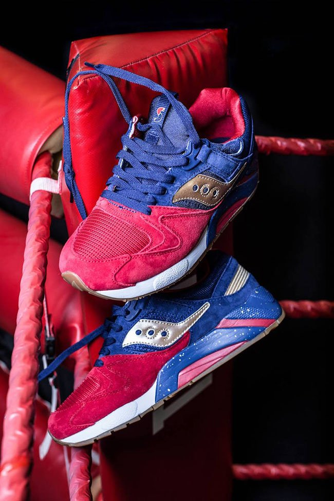 Saucony Grid 9000 Sparring with Saucony Sneaks
