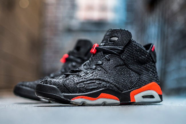 The Shoe Surgeon Air Jordan 6 Python Leather