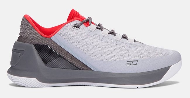 Under Armour Curry 3 Low White Grey Aluminum