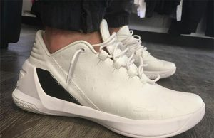 Under Armour Curry 3 Low White Ostrich Chef Curry