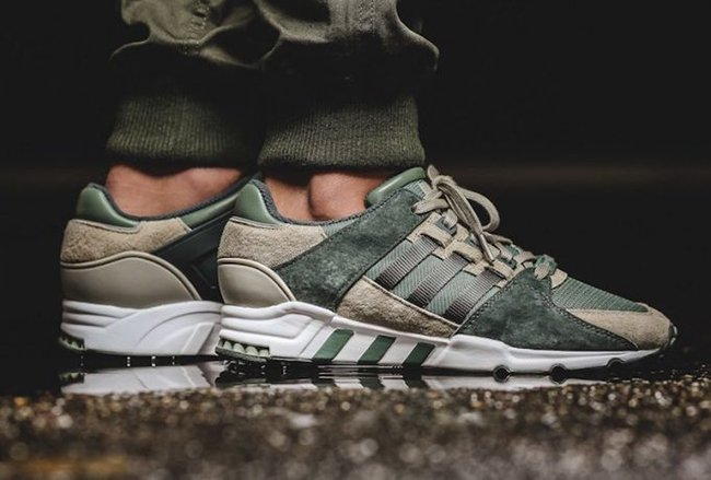 adidas EQT Support RF Trace Green Solid Grey | SneakerFiles