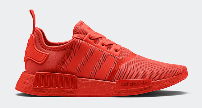 adidas NMD R1 Monochrome Solar Red Pack
