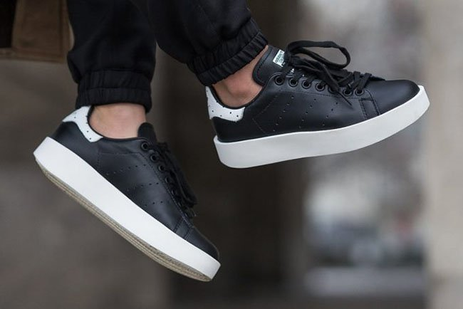 adidas Stan Smith Bold Core Black BA7772 | SneakerFiles