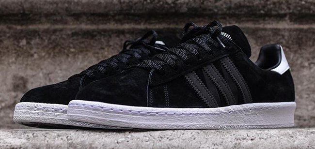 big sale 257be a650b White Mountaineering x adidas Campus 80s Black