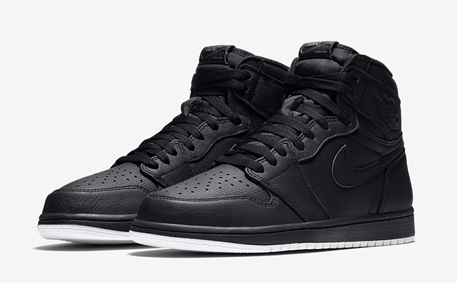 Air Jordan 1 Black Perforated February 2017
