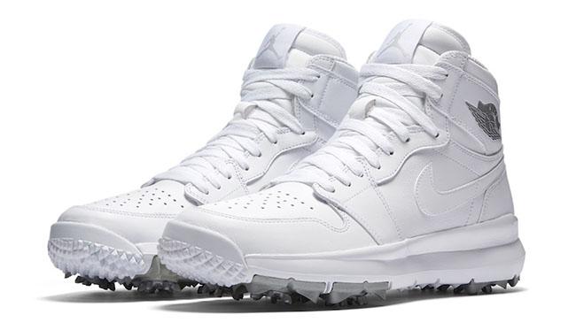 Air Jordan 1 Golf Shoe White Metallic Release Date