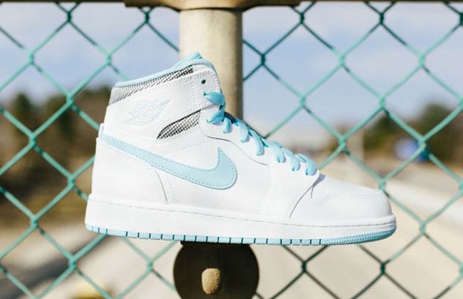 Air Jordan 1 GS Still Blue White