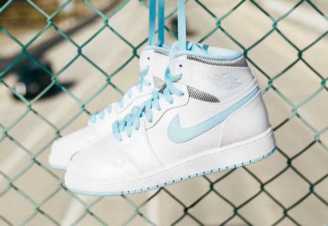 Air Jordan 1 GS Still Blue White