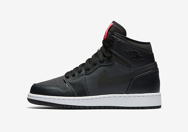 Air Jordan 1 High GS Black Pink 332148-004