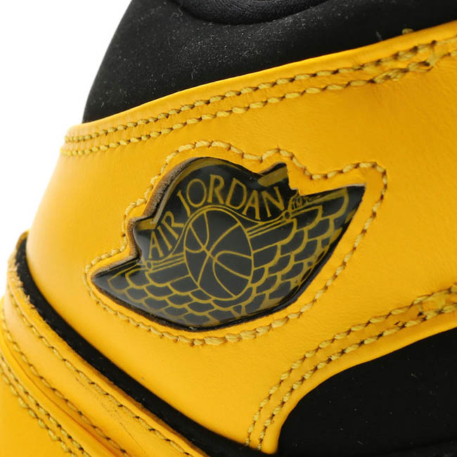 Air Jordan 1 Mid New Love 2017 Retro Black Yellow
