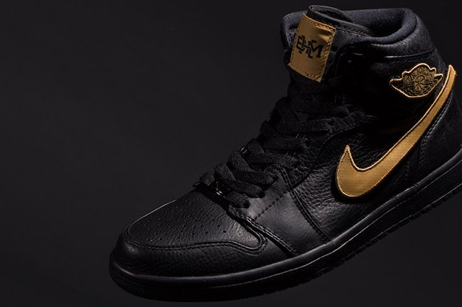 Air Jordan 1 Retro BHM Black Gold