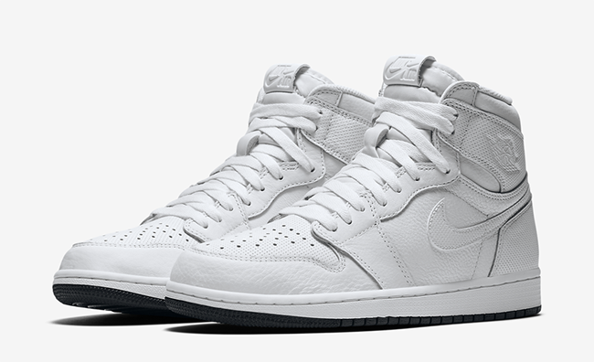 Air Jordan 1 White Perforated February 2017