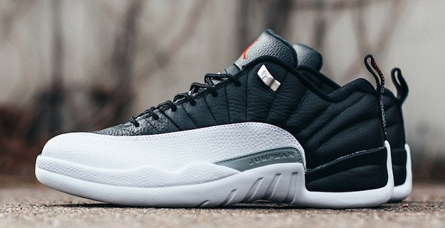 Air Jordan 12 Low Playoffs Black White