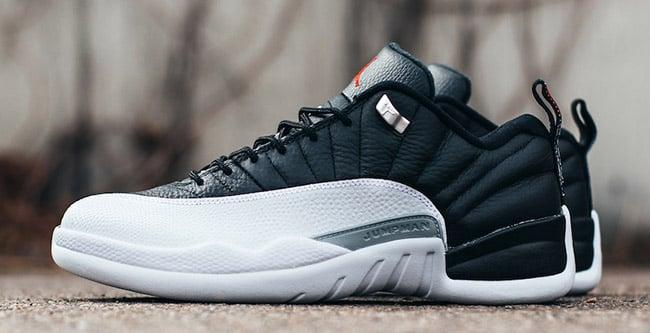 Air Jordan 12 Low Playoffs Black White