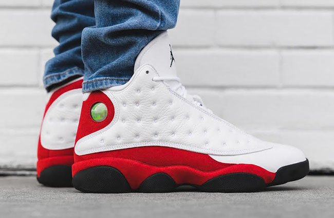 best website bdd4e b5c2f Air Jordan 13 OG Chicago Cherry On Feet