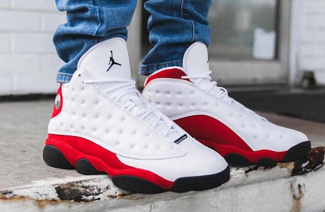 Air Jordan 13 OG Chicago Cherry On Feet