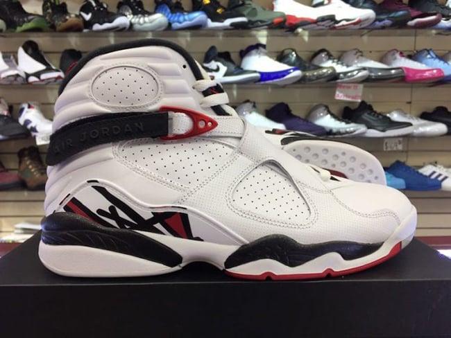 Air Jordan 8 Alternate White Gym Red Black Wolf Grey