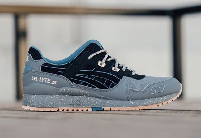 huge discount ccb1f 028e3 Asics Gel Lyte III Light Grey Black Blue Nude | SneakerFiles