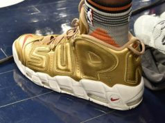 Derrick Jones Gold Supreme Nike Air More Uptempo