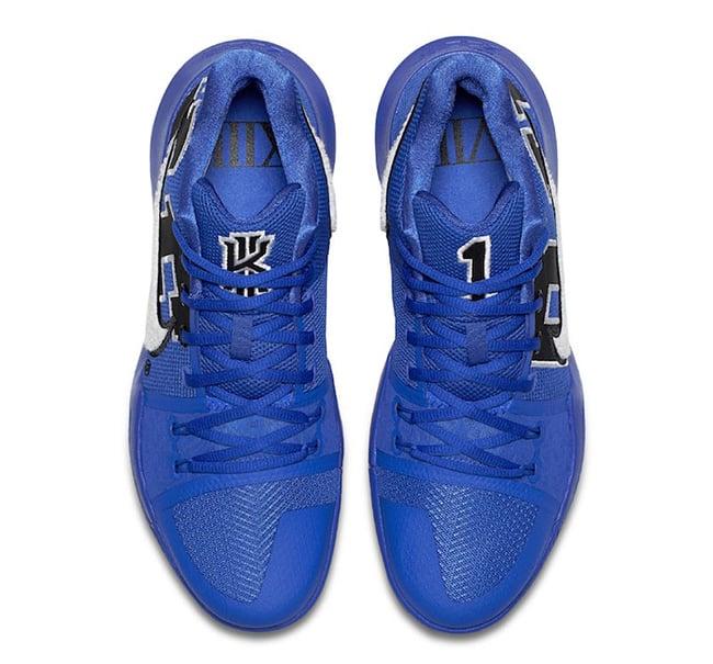 Duke Nike Kyrie 3 Blue