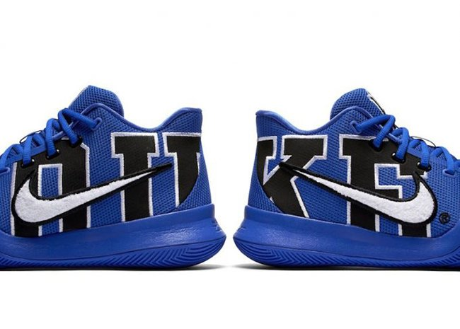 check out e2441 0b7c9 Duke Nike Kyrie 3 Blue