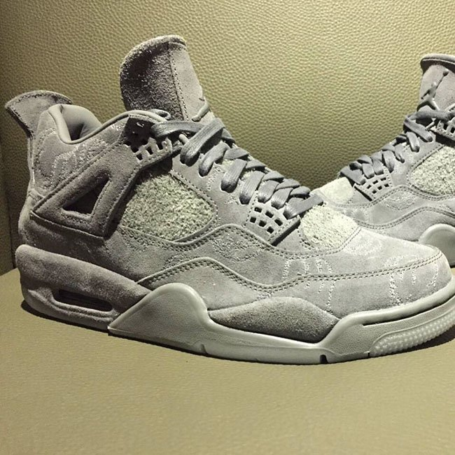 KAWS Air Jordan 4 Cool Grey Suede Release Date