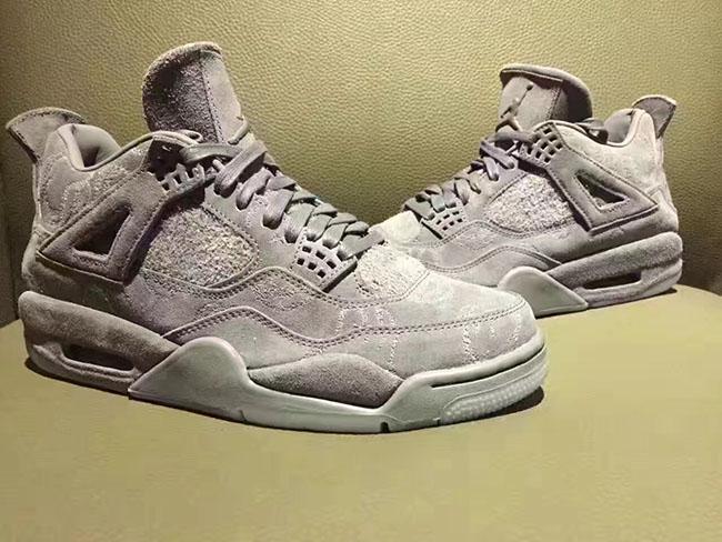 KAWS Air Jordan 4 Grey Suede Release