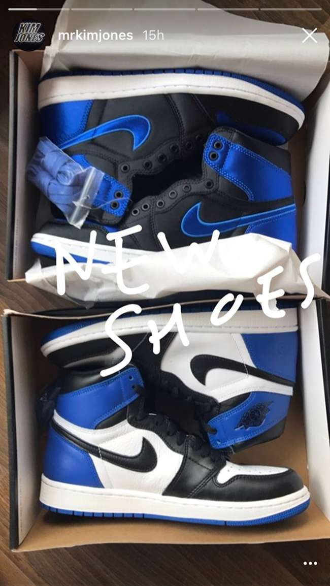 c9d616a7573b38 Kim Jones Air Jordan 1 Satin Royal