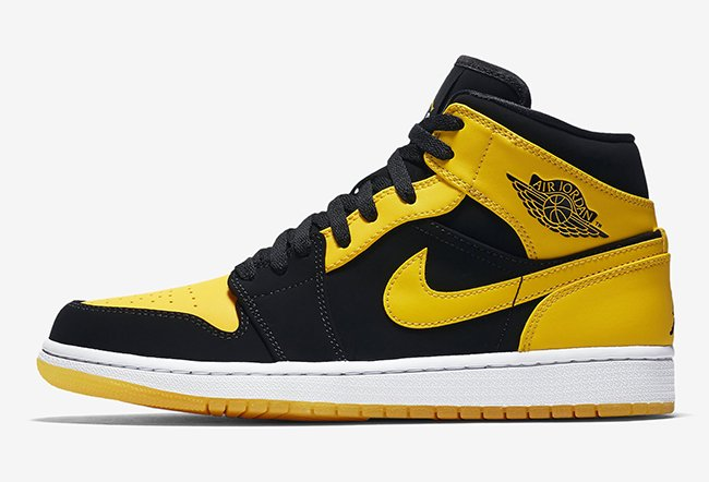 New Love Air Jordan 1 Mid Black Yellow