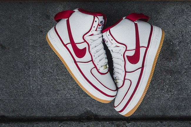 the best attitude 13c8d 003f1 nike air force 1 07 lv8 white gym red